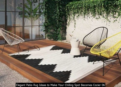 Elegant Patio Rug Ideas To Make Your Chilling Spot Becomes Cozier 06