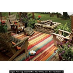Elegant Patio Rug Ideas To Make Your Chilling Spot Becomes Cozier 13