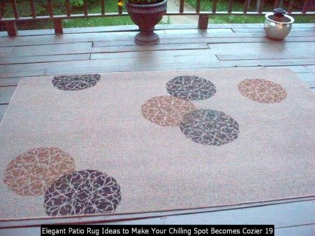 Elegant Patio Rug Ideas To Make Your Chilling Spot Becomes Cozier 19