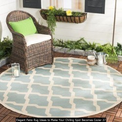 Elegant Patio Rug Ideas To Make Your Chilling Spot Becomes Cozier 27