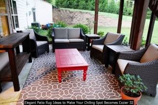 Elegant Patio Rug Ideas To Make Your Chilling Spot Becomes Cozier 32