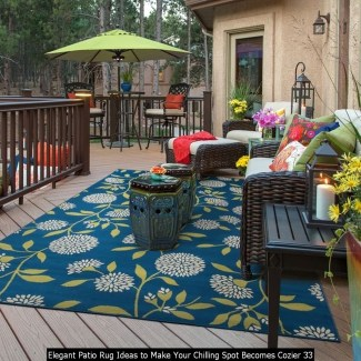 Elegant Patio Rug Ideas To Make Your Chilling Spot Becomes Cozier 33