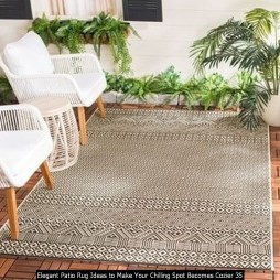 Elegant Patio Rug Ideas To Make Your Chilling Spot Becomes Cozier 35