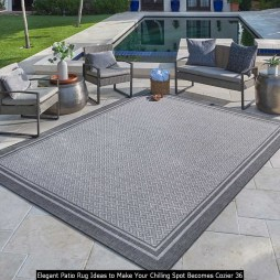 Elegant Patio Rug Ideas To Make Your Chilling Spot Becomes Cozier 36