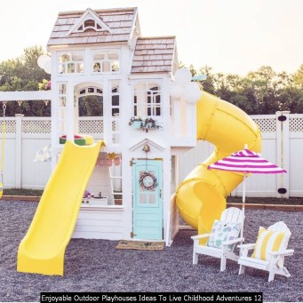 Enjoyable Outdoor Playhouses Ideas To Live Childhood Adventures 12