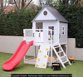 Enjoyable Outdoor Playhouses Ideas To Live Childhood Adventures 14