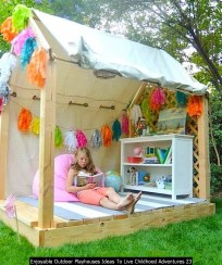 Enjoyable Outdoor Playhouses Ideas To Live Childhood Adventures 23
