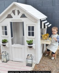 Enjoyable Outdoor Playhouses Ideas To Live Childhood Adventures 24