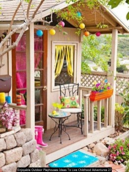 Enjoyable Outdoor Playhouses Ideas To Live Childhood Adventures 27