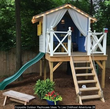 Enjoyable Outdoor Playhouses Ideas To Live Childhood Adventures 28
