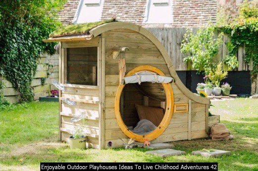 Enjoyable Outdoor Playhouses Ideas To Live Childhood Adventures 42