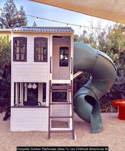 Enjoyable Outdoor Playhouses Ideas To Live Childhood Adventures 46