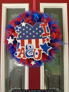 Extraordinary 4th Of July Wreath Ideas For This Summer 07