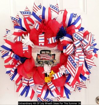 Extraordinary 4th Of July Wreath Ideas For This Summer 16