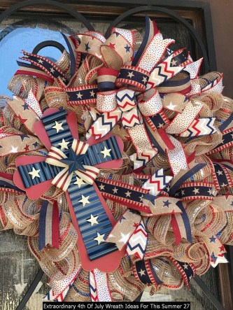 Extraordinary 4th Of July Wreath Ideas For This Summer 27