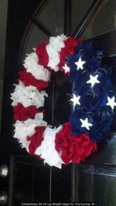 Extraordinary 4th Of July Wreath Ideas For This Summer 34