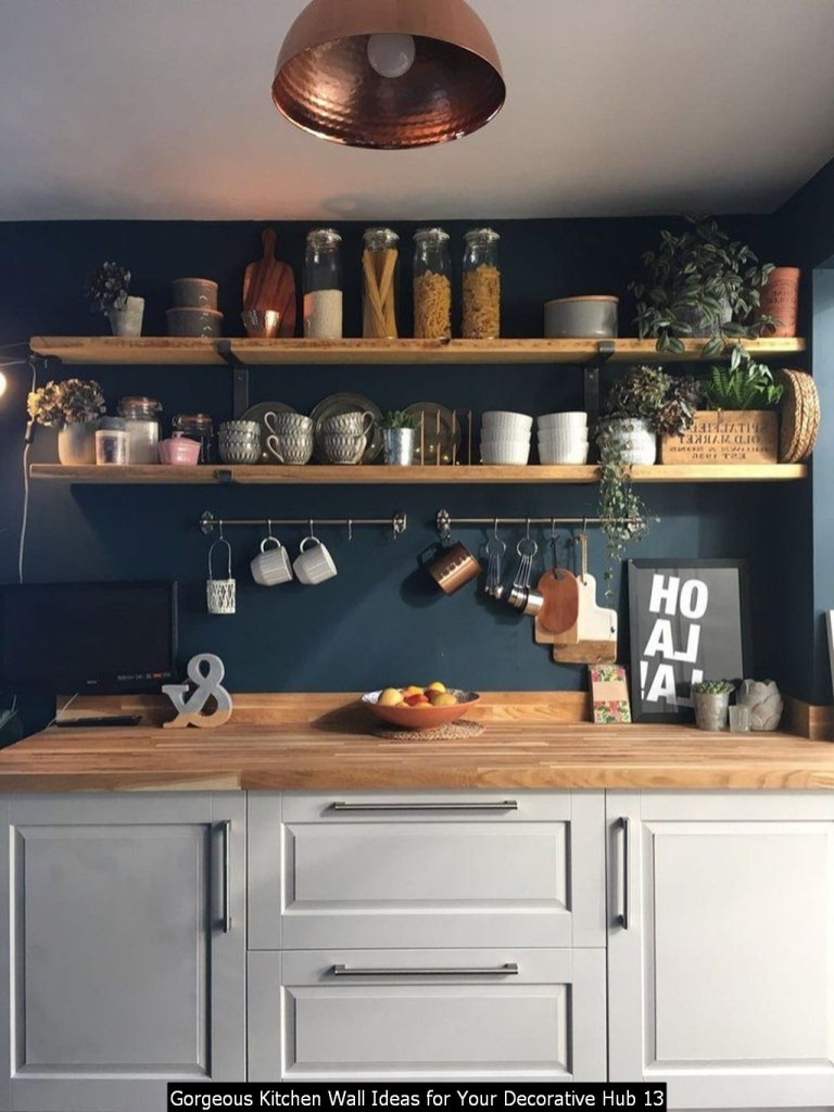 Gorgeous Kitchen Wall Ideas For Your Decorative Hub 13