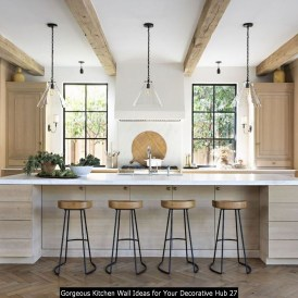 Gorgeous Kitchen Wall Ideas For Your Decorative Hub 27
