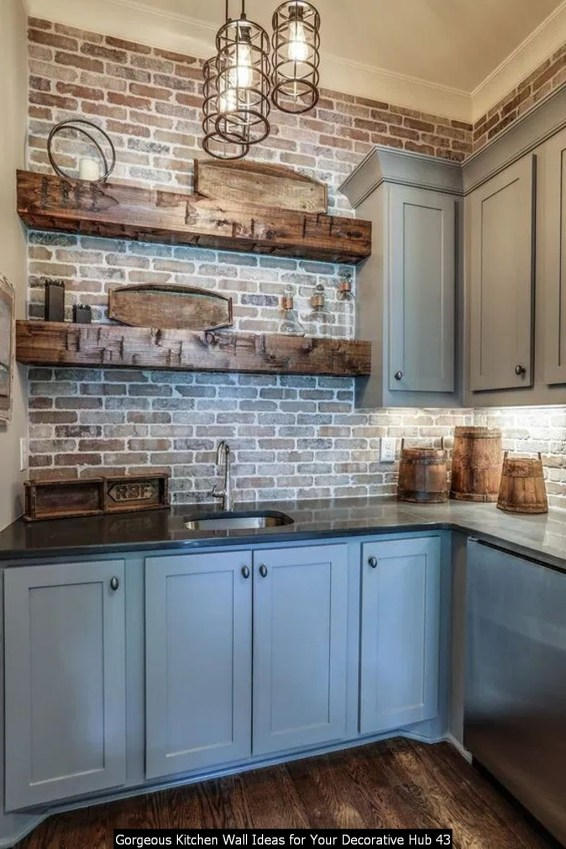 Gorgeous Kitchen Wall Ideas For Your Decorative Hub 43