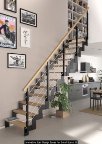 Innovative Stair Design Ideas For Small Space 18