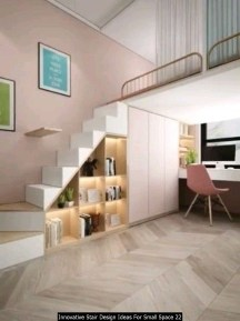 Innovative Stair Design Ideas For Small Space 22