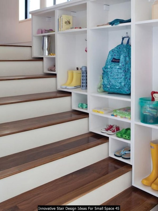 Innovative Stair Design Ideas For Small Space 45