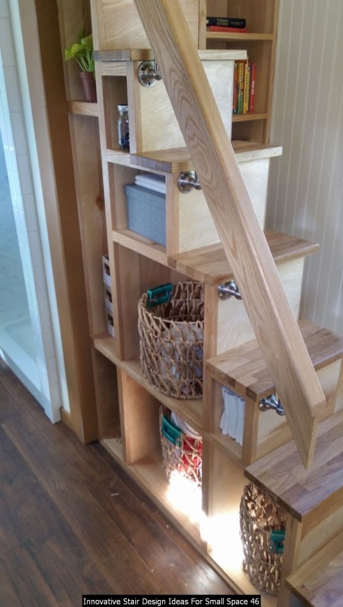 Innovative Stair Design Ideas For Small Space 46