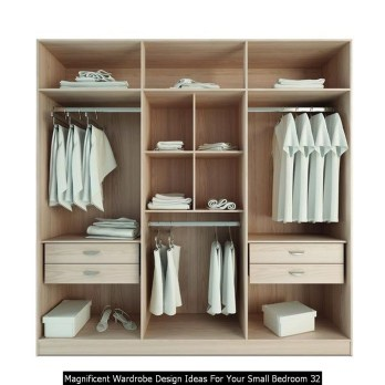 Magnificent Wardrobe Design Ideas For Your Small Bedroom 32