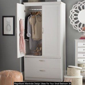 Magnificent Wardrobe Design Ideas For Your Small Bedroom 38