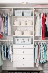 Magnificent Wardrobe Design Ideas For Your Small Bedroom 40