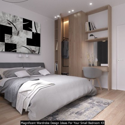 Magnificent Wardrobe Design Ideas For Your Small Bedroom 43