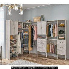 Magnificent Wardrobe Design Ideas For Your Small Bedroom 46
