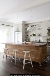 Rustic Wooden Kitchen Island Ideas For Your Kitchen 02