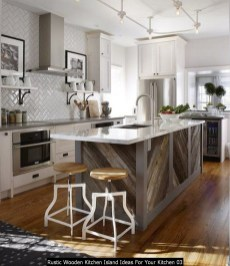 Rustic Wooden Kitchen Island Ideas For Your Kitchen 03