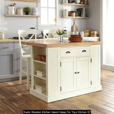 Rustic Wooden Kitchen Island Ideas For Your Kitchen 07