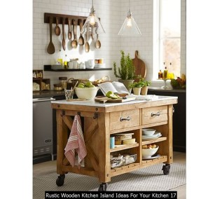 Rustic Wooden Kitchen Island Ideas For Your Kitchen 17