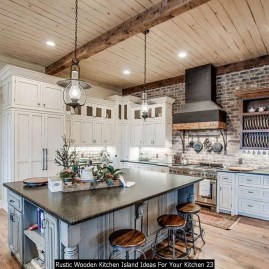 Rustic Wooden Kitchen Island Ideas For Your Kitchen 23