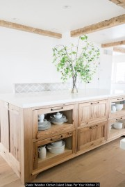 Rustic Wooden Kitchen Island Ideas For Your Kitchen 25