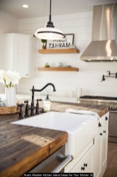 Rustic Wooden Kitchen Island Ideas For Your Kitchen 32