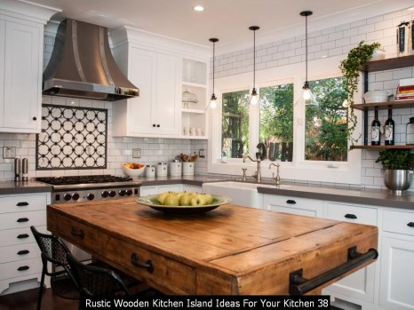 Rustic Wooden Kitchen Island Ideas For Your Kitchen 38