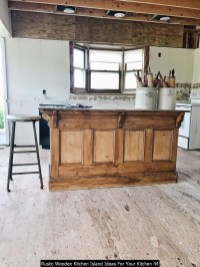 Rustic Wooden Kitchen Island Ideas For Your Kitchen 44