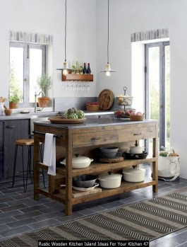 Rustic Wooden Kitchen Island Ideas For Your Kitchen 47