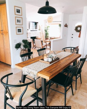 Stylish Cozy Dining Room Ideas That Everyone Will Enjoy 07