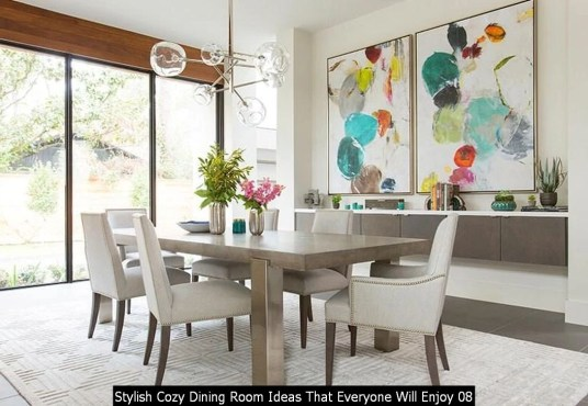 Stylish Cozy Dining Room Ideas That Everyone Will Enjoy 08