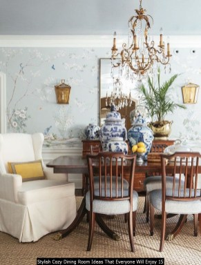 Stylish Cozy Dining Room Ideas That Everyone Will Enjoy 15