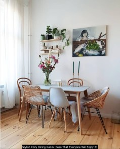 Stylish Cozy Dining Room Ideas That Everyone Will Enjoy 21