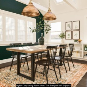 Stylish Cozy Dining Room Ideas That Everyone Will Enjoy 47