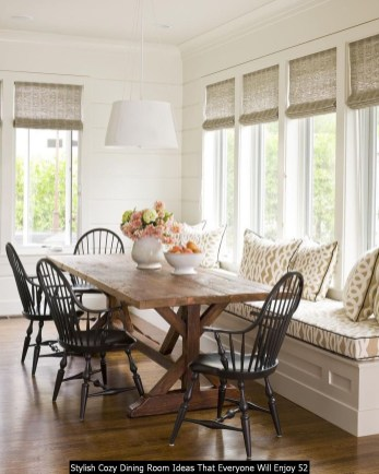 Stylish Cozy Dining Room Ideas That Everyone Will Enjoy 52