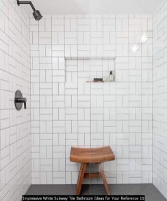 Impressive White Subway Tile Bathroom Ideas For Your Reference 10