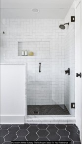 Impressive White Subway Tile Bathroom Ideas For Your Reference 11